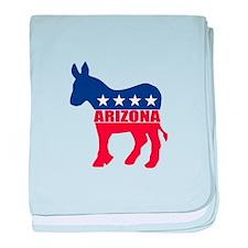 Arizona Democrat Donkey baby blanket