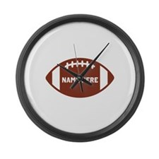 Customize a Football Large Wall Clock