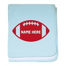 Customize a Football baby blanket