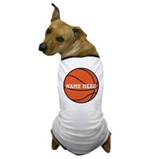 Customize a Basketball Dog T-Shirt