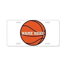 Customize a Basketball Aluminum License Plate