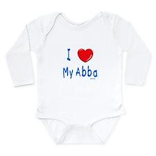 I Love Abba Jewish Kids Body Suit