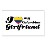 I love My Colombian girl friend Decal