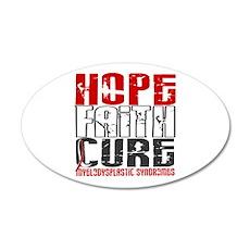MDS Hope Faith Cure 20x12 Oval Wall Decal