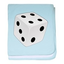 White Playing Dice baby blanket