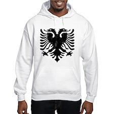 Albanian Eagle Emblem Hoodie