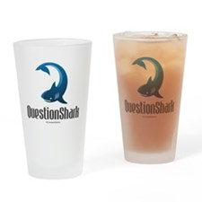 QuestionShark Logo Drinking Glass