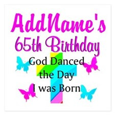BLESSED 65TH 5.25 x 5.25 Flat Cards
