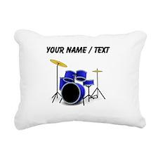 Custom Blue Drums Rectangular Canvas Pillow