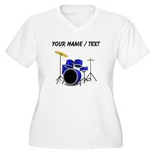 Custom Blue Drums Plus Size T-Shirt