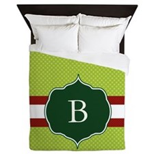 Personalizable Green Queen Duvet