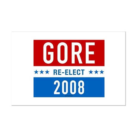 Re-elect Al Gore Mini Poster Print