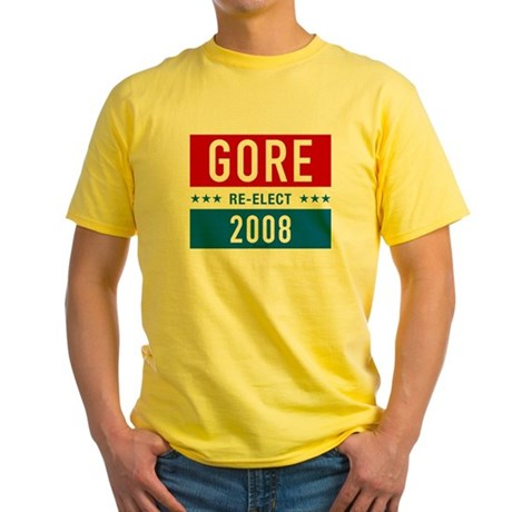 Re-elect Al Gore Yellow T-Shirt