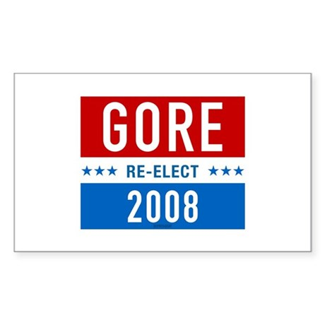 Re-elect Al Gore Rectangle Sticker