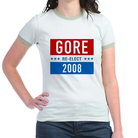Re-elect Al Gore Jr Ringer T-Shirt