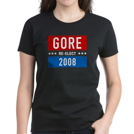 Re-elect Al Gore 2008 Womens Black Tee