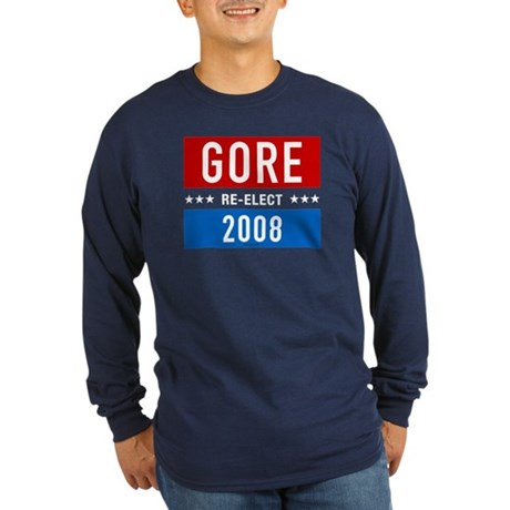Re-elect Al Gore 2008 Long Sleeve Navy Tee