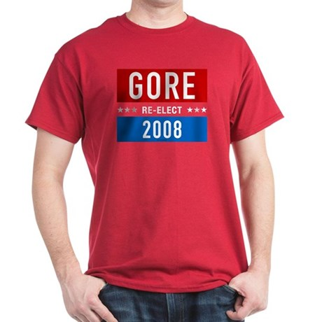 Re-elect Al Gore 2008 Cardinal Red T-Shirt