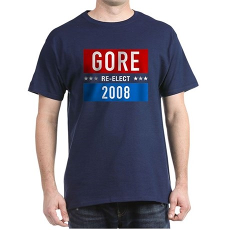 Re-elect Al Gore 2008 Navy T-Shirt
