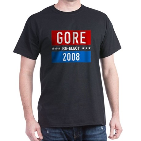 Re-elect Al Gore 2008 Black T-Shirt