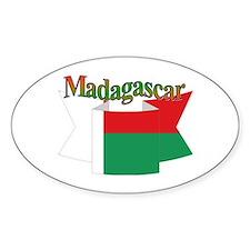 Madagascar ribbon Oval Decal
