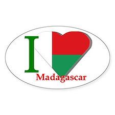 I love Madagascar Oval Decal