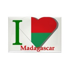 I love Madagascar Rectangle Magnet