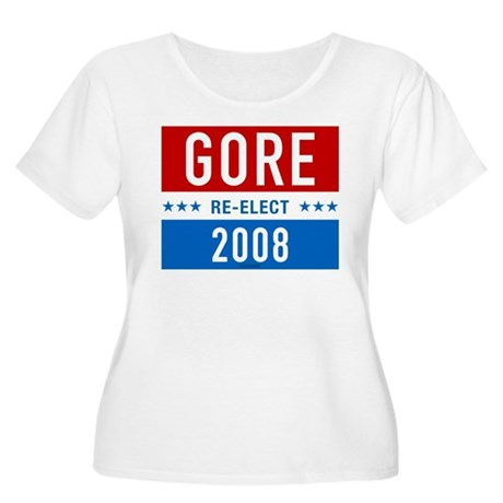 Re-elect Al Gore Womens Plus Size Scoop Neck T-Sh