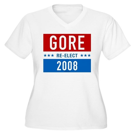 Re-elect Al Gore Plus Size V-Neck Shirt