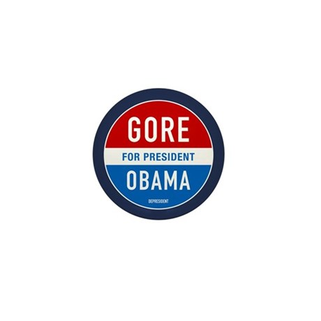 Gore Obama 2008 Mini Button