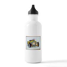 Old Car Cartoon Water Bottle