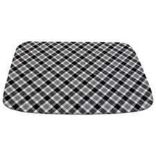 Black and White Plaid Bathmat