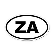 South Africa ZA Oval Car Magnet