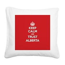 Trust Alberta Square Canvas Pillow