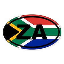 South Africa ZA flag Decal