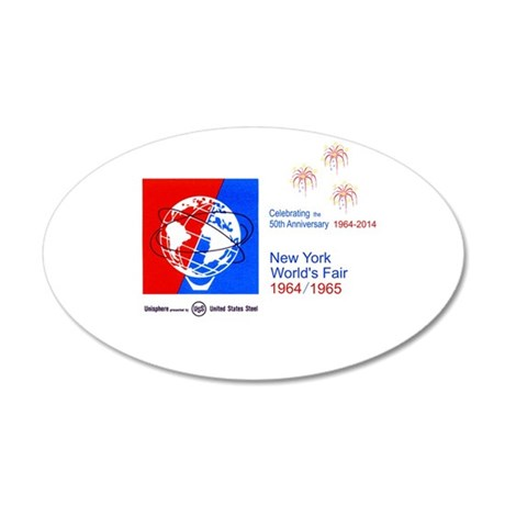 50th Anniversary Fireworks 35x21 Oval Wall Decal