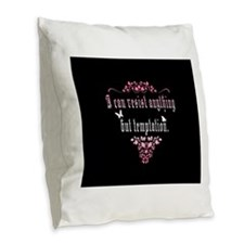 Temptation Burlap Throw Pillow