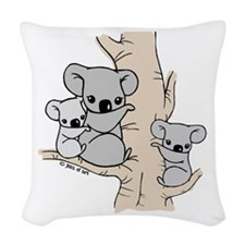 Koala Bears Woven Throw Pillow