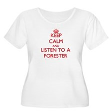 Keep Calm and Listen to a Forester Plus Size T-Shi