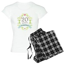 20th Anniversary flowers an Pajamas