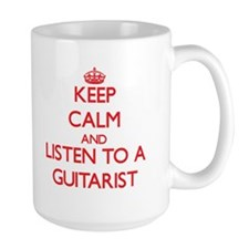Keep Calm and Listen to a Guitarist Mugs