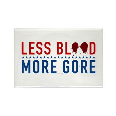 Less Blood - More Gore Rectangle Magnet (100 pack)