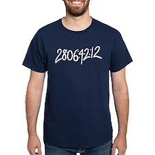 28:06:41:12 donnie darko numbers T-Shirt