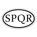 Roman SPQR Oval Decal