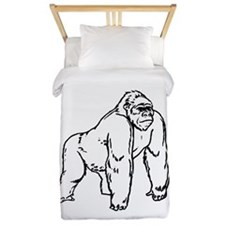Gorilla Drawing Twin Duvet