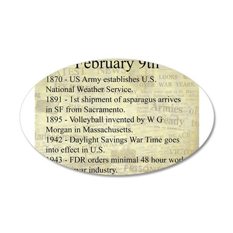 February 9th 35x21 Oval Wall Decal