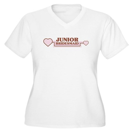 Junior Bridesmaid Women's Plus Size V-Neck T-Shirt