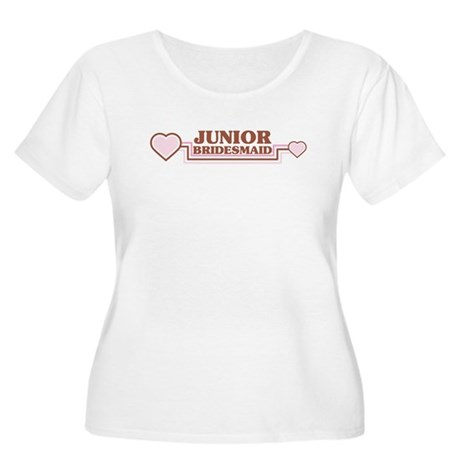 Junior Bridesmaid Women's Plus Size Scoop Neck T-S