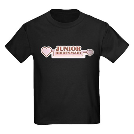 Junior Bridesmaid Kids Dark T-Shirt