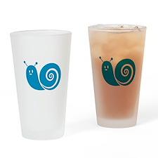 Blue Snail Drinking Glass
